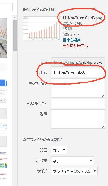 ワードプレス4.7 画像挿入時の図